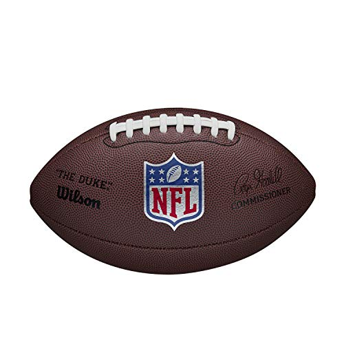 Wilson American Football NFL Duke Replica, Mischleder, Offizielle Größe, Braun,...