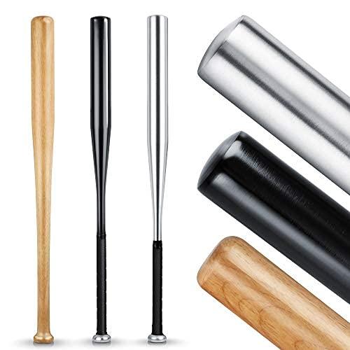 HELDENWERK Baseballschläger aus Holz oder Aluminium - Solide verarbeitet (Holz),...