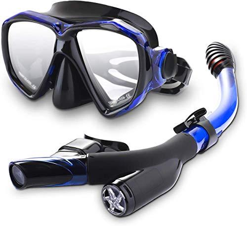 Speedsporting Trocken Schnorchelset, Anti-Fog Tauchmaske,Leichtes Atmen und...