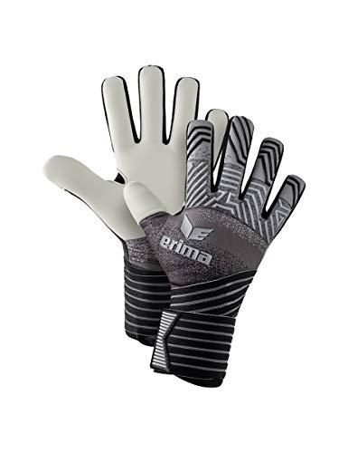 Erima Erwachsene Flex RD Pro Torwarthandschuhe, schwarz/grau/weiß, 7,5