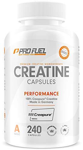 ProFuel Creatin Monohydrat Kapseln (100% Creapure®), 240 Caps | 850mg pro Creatin...