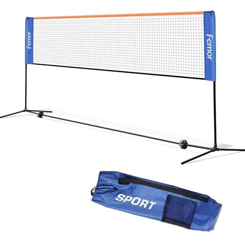 femor Badminton Netz Tennisnetz 4m Tragbares Volleyball mit Verstellbaren Höhen...