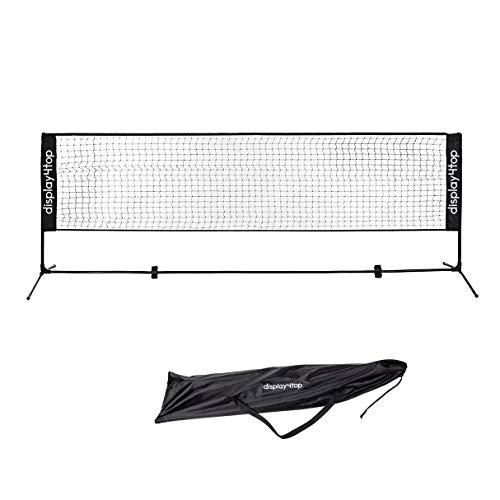 display4top Tennisnetz Verstellbares, faltbares, tragbares BadmintonNetz für Tennis,...