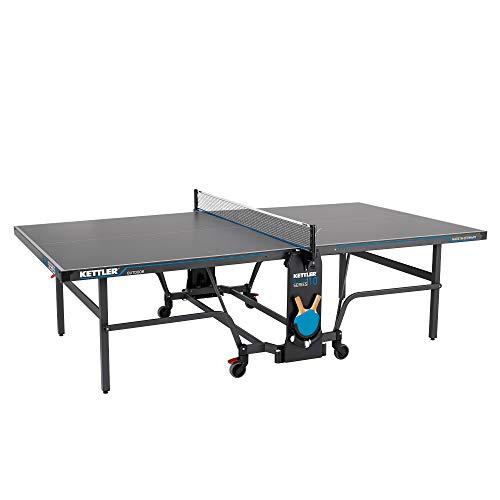 KETTLER K10, Outdoor Profi Tischtennisplatte, Premium Qualität, robuste 6mm...