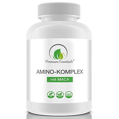 Amino-Komplex + Maca, 300 Tabletten á 1000mg (Vegan), Alle 18 Aminosäuren inkl....