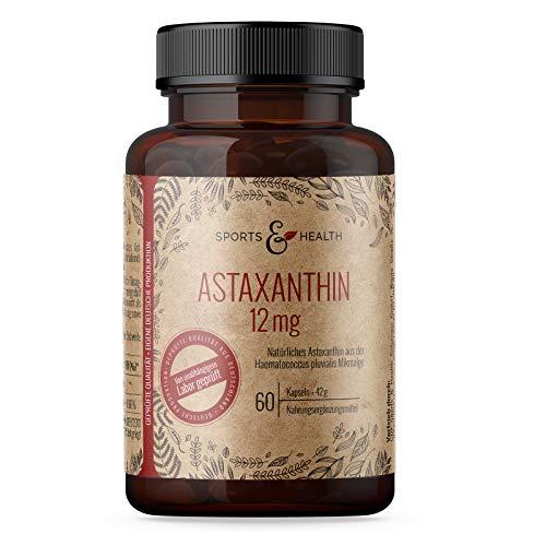 Astaxanthin 12 mg Depot Softgel Kapseln mit Oxidationsschutz - 4 Monatsvorrat - 60...