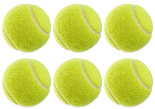 6X Tennisbälle für Tennis & Freizeit | Tennis-Ball gelb im Set für Anfänger &...
