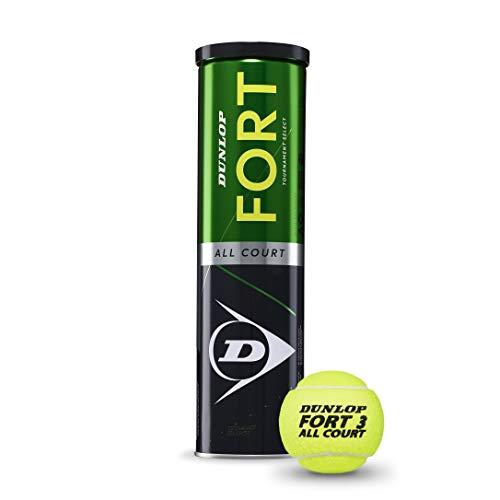 Dunlop Tennisball Fort All Court TS - für Sand, Hartplatz und Rasen (1x4er Dose)