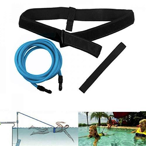 FOOING Einstellbare Pool Schwimmgürtel, Schwimmwiderstand Gürtel Schwimmtraining...