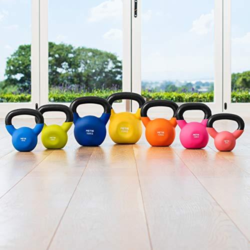 METIS Neopren Kettlebell - von 4kg bis zu 20kg | Training für Zuhause & Fitness...