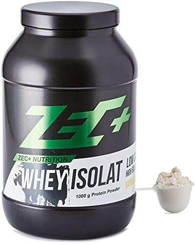 ZEC+ Whey Isolat – 1000 g, Vanille │ Fettarmes Eiweißpulver aus reinem...