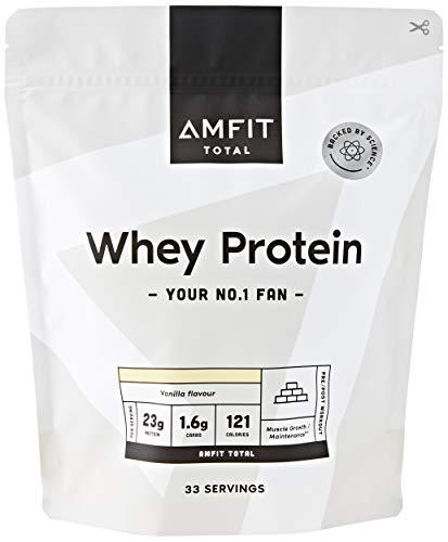 Amazon-Marke: Amfit Nutrition Molkeproteinpulver 1kg - Vanille (ehemals PBN)