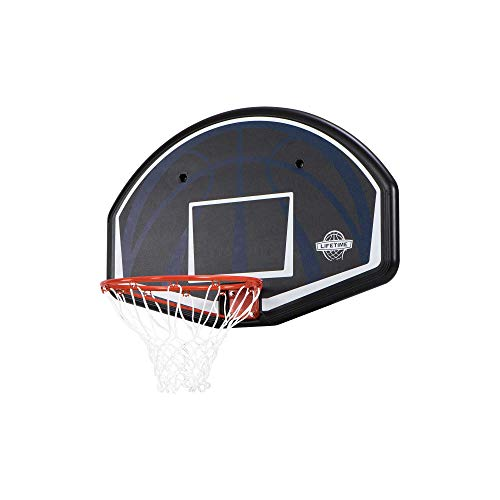 Lifetime Basketball Backboard Dallas Wandmontage 44 Zoll Basketballkorb mit Netz...