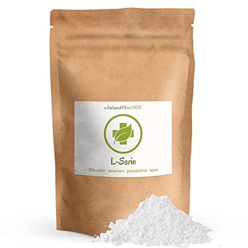 L-Serin Pulver 100 g - nicht-essentielle proteinogene Aminosäure - Reinsubstanz aus...
