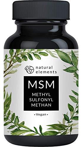 MSM Kapseln - 365 vegane Kapseln - Laborgeprüft - 1600mg Methylsulfonylmethan (MSM)...
