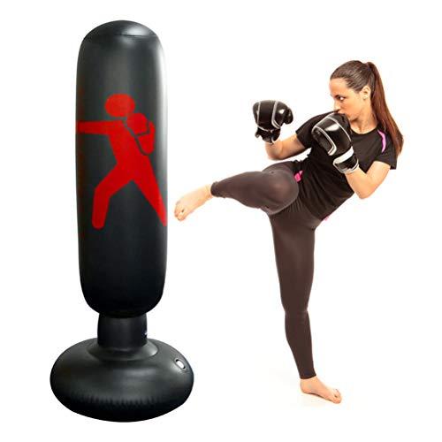 Knowooh Boxsack, Standboxsack Aufblasbare Boxsäule für Kinder und Erwachsene ab 6...
