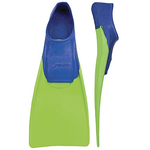 FINIS Kinder Floating-8-11 Swim Fin, blue/lime green, 26-33