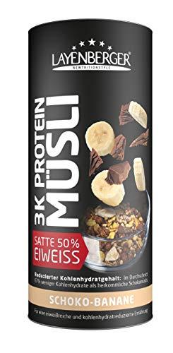 Layenberger 3K Protein Müsli Schoko-Banane, satte 50,6 % Eiweiß und nur 19,9 %...