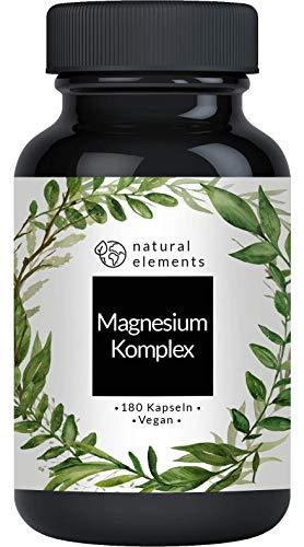 Magnesium Komplex - Premium: Aus 5 hochwertigen Verbindungen - 400mg elementares...