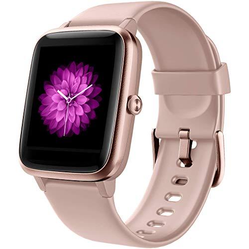 GRDE Smartwatch Damen Smart Watch Bluetooth 1.3 Zoll Voll Touchscreen Fitness Armband...
