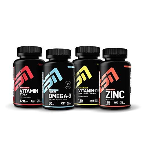 ESN 4er Pack Vitamine & Vitalstoffe – hochwertige Nahrungsergänzung – 4...