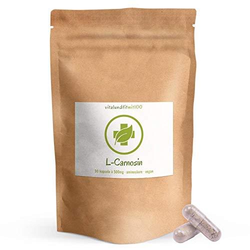 L-Carnosin Kapseln - 90 Stück à 500mg - starkes Antioxidans - vegane Kapselhülle -...