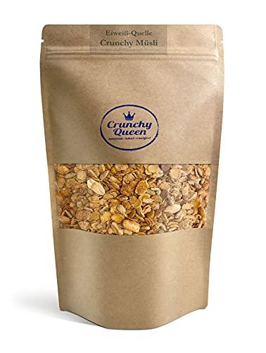 Crunchy Queen Eiweiß-Quelle Crunchy Granola Müsli ohne raffinierten Zucker und...