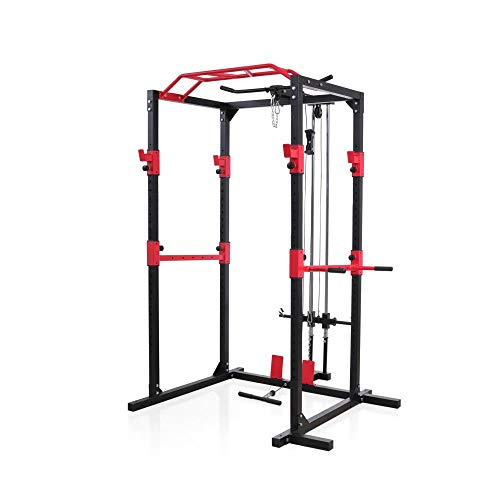 Peak Power Power Rack, massive standsichere Stahlkonstruktion, Fitness Rack Set mit 2...