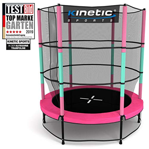 Kinetic Sports Trampolin Kinder Indoortrampolin Jumper 140 cm Randabdeckung Stangen...