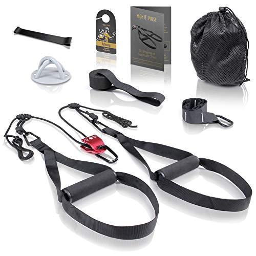 High Pulse® Schlingentrainer Set (7-TLG.) – Umfassendes Sling Trainer Kit mit...