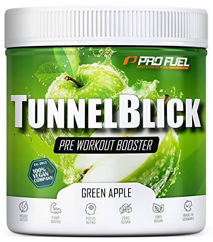 Pre-Workout-Booster Trainingsbooster Tunnelblick mit Citrullin, Taurin, Koffein &...