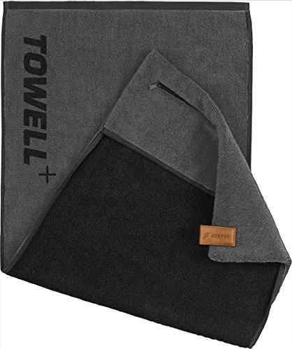 STRYVE Towell Plus V2 Sporthandtuch mit Tasche und Magnetclip, in 7 Farben Die Höhle...