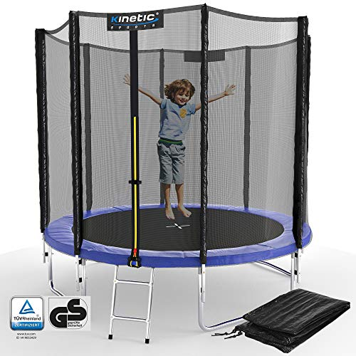 Kinetic Sports Outdoor Gartentrampolin Ø 244 cm, TPLS08, inklusive Sprungtuch aus...