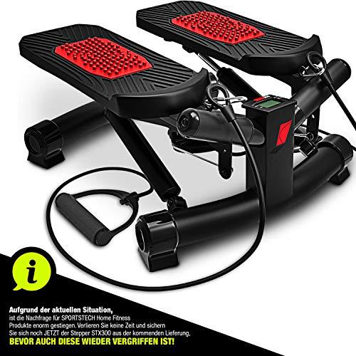 Sportstech 2in1 Twister Stepper mit Power Ropes - STX300 Modell 2019 Drehstepper &...