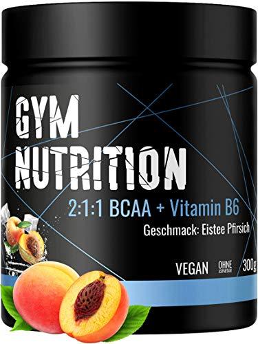 BCAA + Vitamin B6 hochdosiertes Pulver - Leucin, Isoleucin, Valin 2:1:1 - in...