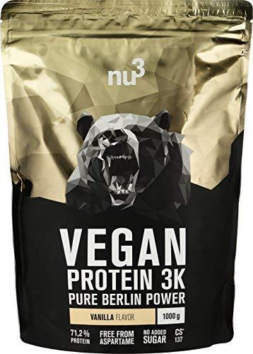 nu3 Vegan Protein 3K Shake - 1 Kg Vanilla Blend - veganes Eiweisspulver aus...