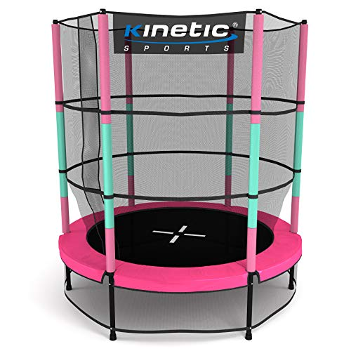 Kinetic Sports Trampolin Kinder Indoortrampolin Jumper 140 cm Randabdeckung Stangen...
