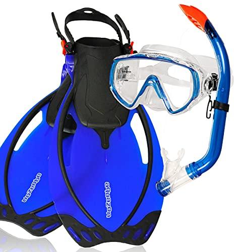 aquazon Miami Schnorchelset, Schwimmset, Tauchset, Taucherbrille mit Anti Fog...