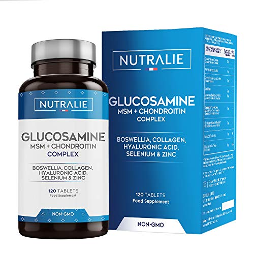 Glucosamin mit Chondroitin Hochdosiert mit MSM und Kollagen | Erhaltung Normaler...