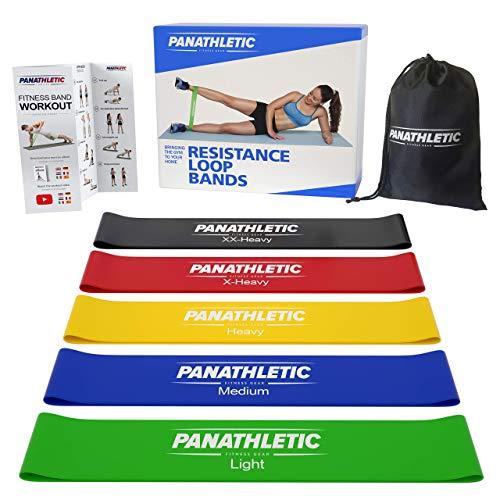 Panathletic Fitnessbänder/Widerstandsbänder, 5er Set, mit Anleitung, eBook auf...