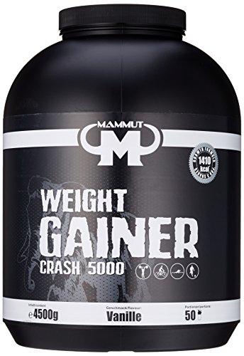 Mammut Weight Gainer Crash 5000 Vanille 4500 g Dose