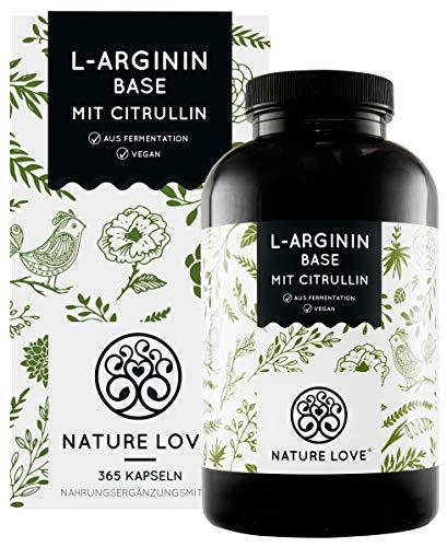 NATURE LOVE® L-Arginin Base mit Citrullin - Einführungspreis - Hochwertiges...