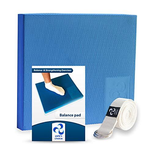 Foam Balance Pad - von Physiotherapeuten empfohlen I Dehnungsgurt & eBook als...