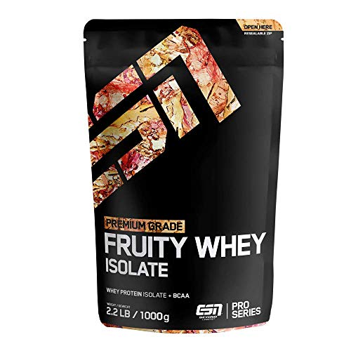 ESN Fruity Whey Isolate – 1000g – Green Apple – Fruchtiges Proteinpulver reich...