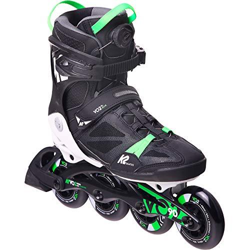 K2 Inline Skates VO2 90 BOA M Für Herren Mit K2 Softboot, Black - Green, 30E0880