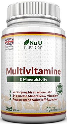 Vitamine & Mineralien | Männer & Frauen | 24 Multivitamine & Mineralstoffe in einer...