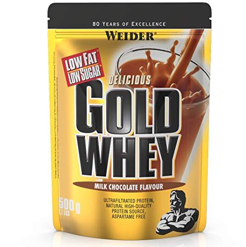 Weider Gold Whey Protein Schoko, Low Carb, Eiweißpulver für Fitness und...