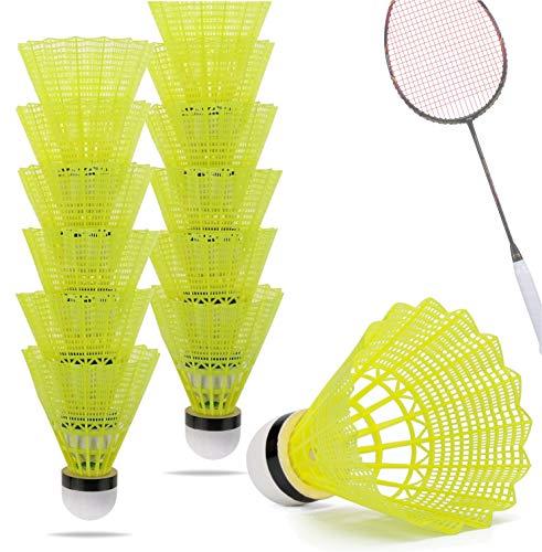 TK Gruppe Timo Klingler 12x Federbälle gelb Badmintonbälle für Training &...