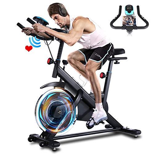 ANCHEER Heimtrainer, 49LBS Indoor Cycling Bike Fitnessbike Mit Herzfrequenzmonitor &...