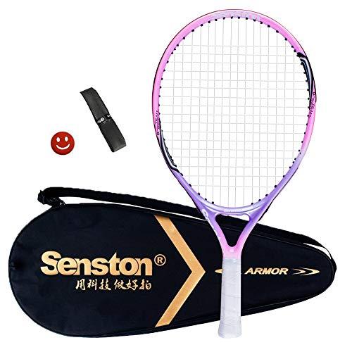 Senston Kinder/Jugend Tennisschläger One-Piece-Design Tennis Schläger Set mit...